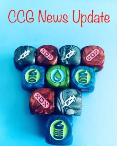 CCG News Update image with dice